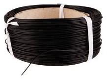 Eénaderig montagedraad 0.5mm 100m zwart