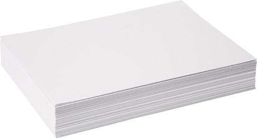 Wit tekenpapier 120gr. / 25x32,5cm. / 500 vel