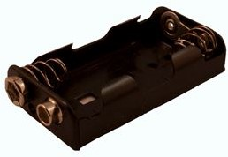 Batterijhouder 2x penlite voor aansluiting batterijclip