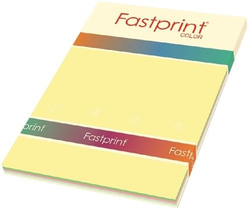 Kopieerpapier Fastprint A4 80gr 5 zachte kleuren 250vel