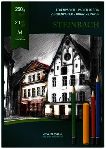 Tekenblok Aurora A4 20v 250gr Steinbach papier