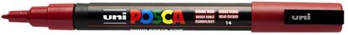 Verfstift Posca PC3M F donkerrood