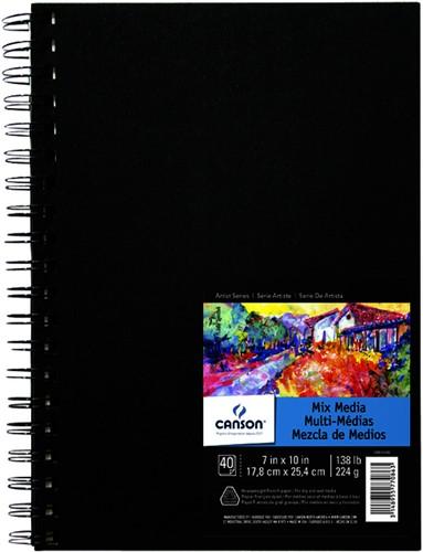 Tekenboek Canson Art 17.8x24.4cm 40v 224gr spiraal