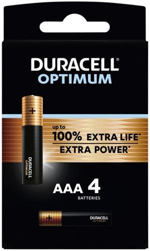 Batterij Duracell Optimum 4xAAA