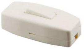 Snoerschakelaar 1P wit
