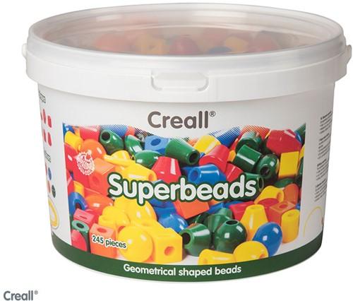 Creall-superkralen (ca 245 kralen) incl/ 8m kunststof rijgsnoer