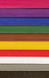 Golfkarton assorti gekleurd 50 x 70 cm 250 gr 10 vel