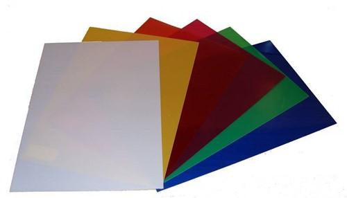 Transparant hardfolie 20×28 cm rood verpakking 10 vel