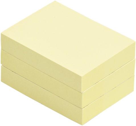Memoblok Quantore 40x50mm geel