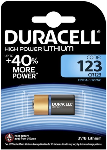 Batterij Duracell 1xCR123 high power lithium