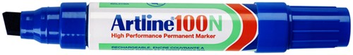 Viltstift Artline 100 schuin 7.5-12mm blauw
