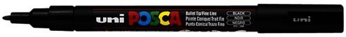 Verfstift Posca PC3M F zwart