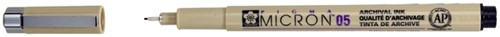 Fineliner Sakura pigma micron zwart 0.45mm