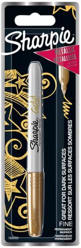 Viltstift Sharpie rond 0.9mm metallic goud blister à 1 stuk
