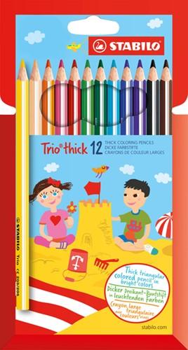 Kleurpotloden STABILO Trio dik 203 kartonnen etui à 12 kleuren