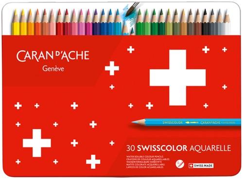 Kleurpotloden Caran d'Ache Swisscolor aquarel 30stuks ass.