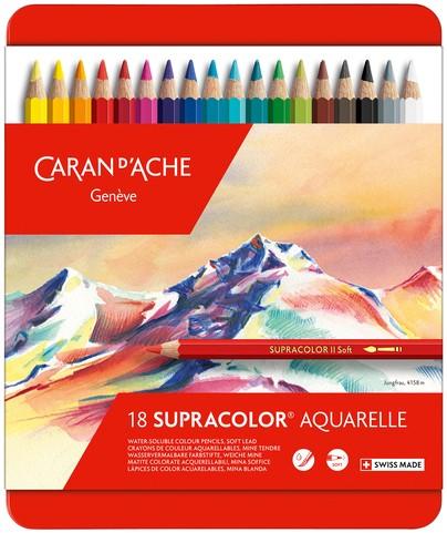 Kleurpotloden Caran d'Ache Supracolor 18stuks assorti