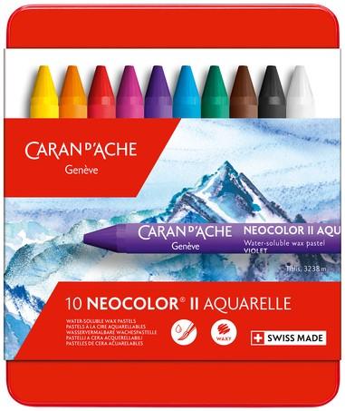 Waskrijt Caran d'Ache neocolor-II 10stuks assorti