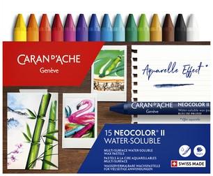 Waskrijt Caran d'Ache neocolor-II 15stuks assorti