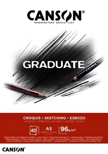 Schetsboek Canson Graduate Croquis A5 96gr 40vel