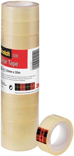 Plakband Scotch 508 15mmx10m transparant
