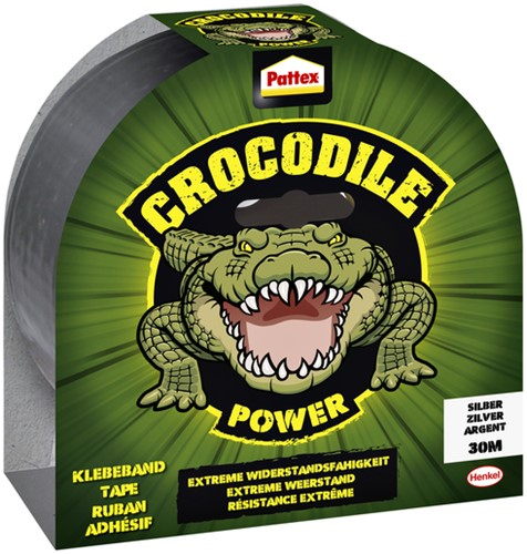 Plakband Pattex Crocodile duct tape 50mmx30m zilver