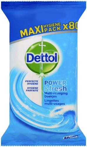 Hygiënische doekjes Dettol Power & Fresh 80st