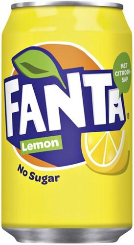 Frisdrank Fanta Lemon No Sugar blikje 0.33l