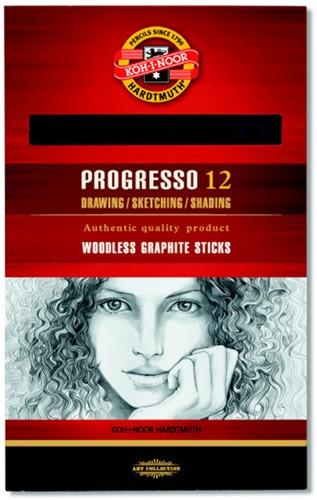 Grafietpotloden Progresso hardtegraad 2B - doosje 12 stuks