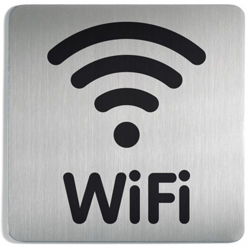 Infobord pictogram Durable 4786 vierkant wifi 150mm