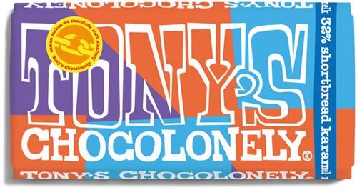 Chocolade Tony's Chocolonely melk 32 procent shortbread 180gr
