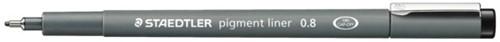 Fineliner Staedtler Pigment 308 zwart 0.7mm