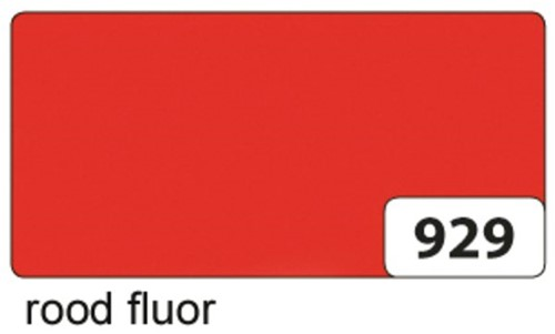 Etalagekarton folia 48x68cm 380gr nr929 fluor rood