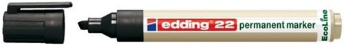 Viltstift edding 22 Eco schuin zwart 1-5mm