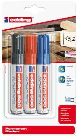 Viltstift edding 500 schuin assorti 2-7mm blister à 3st