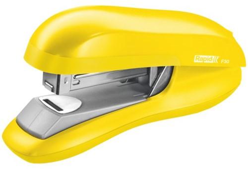 Nietmachine Rapid F30 Flat Clinch 30vel 24/6 geel