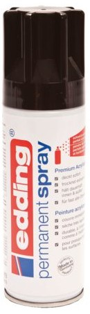 Verfspuitbus edding 5200 permanent spray glossy diepzwart