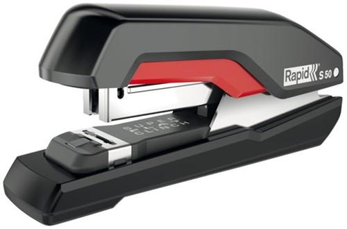 Nietmachine Rapid S50 Halfstrip 50vel 24/6 zwart/rood