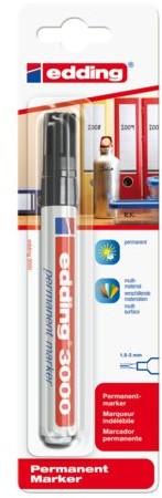 Viltstift edding 3000 rond zwart 1.5-3mm blister