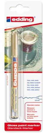 Viltstift edding 780 lakmarker rond goud 0.8mm blister