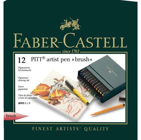 Brushstift Faber Castell Pitt Artist 12 stuks assorti