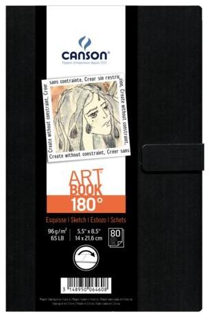 Tekenboek Canson Art 140x216mm 180graden 96gram 80vel