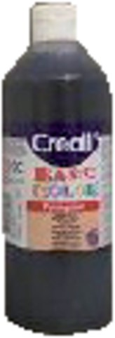 Plakkaatverf Creall basic 20 zwart 500ml
