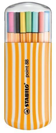 Fineliner STABILO point 88 Zebrui etui à 20 kleuren