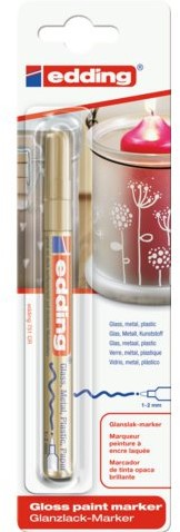Viltstift edding 751 lakmarker rond goud 1-2mm blister