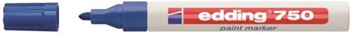 Viltstift edding 750 lakmarker rond blauw 2-4mm