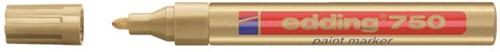 Viltstift edding 750 lakmarker rond goud 2-4mm