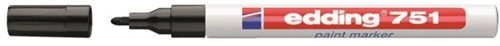Viltstift edding 751 lakmarker rond zwart 1-2mm