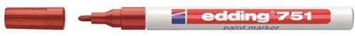 Viltstift edding 751 lakmarker rond rood 1-2mm