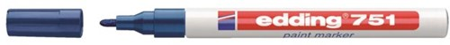 Viltstift edding 751 lakmarker rond blauw 1-2mm